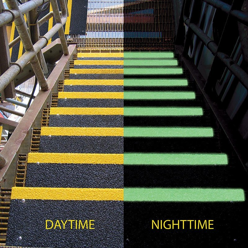 Safeguard has a variety of HiGlo, Glow-in-the-dark colors for anti-slip products. Contact Safeguard today to learn more