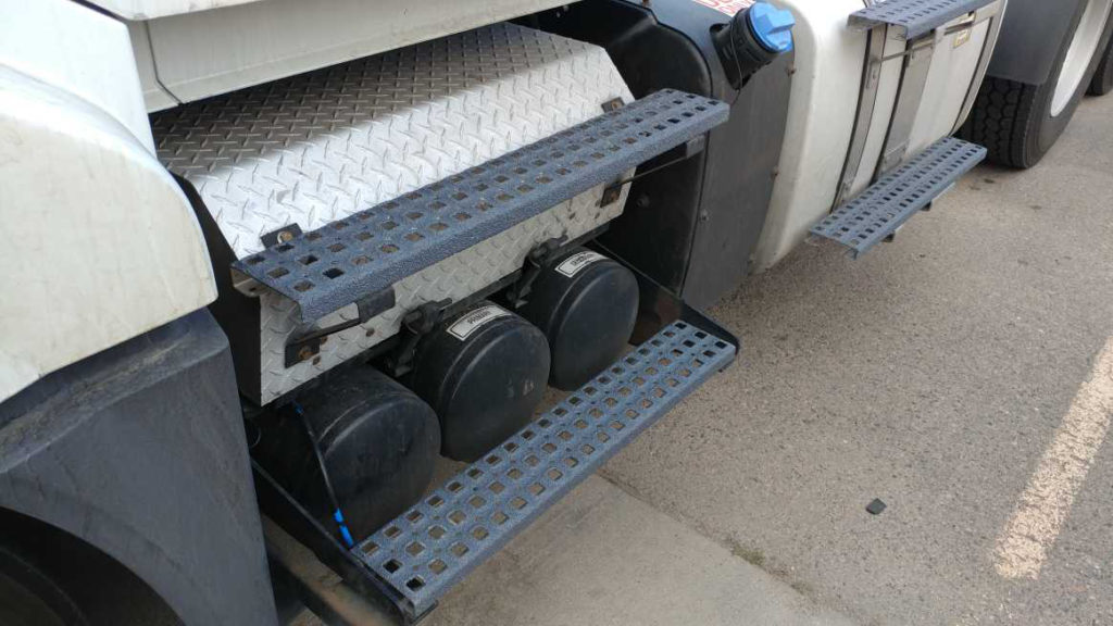 Safeguard Hi-Traction steps stop slips, trips, and falls for truckers