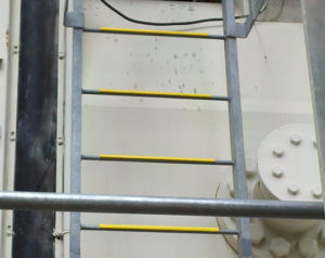 Safeguard Hi-Traction® anti-slip ladder rung covers stop slips that can lead to serious injury