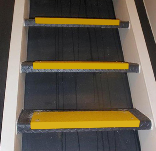 Anti-Slip marine steps with Anti-Slip Step Covers for Steep Stairs